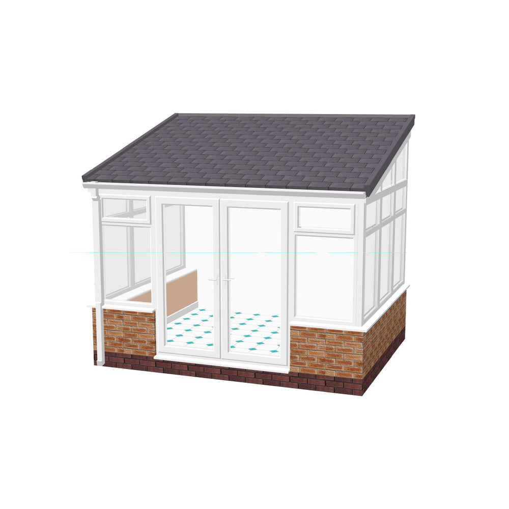 Lean to Conservatory with TILED ROOF