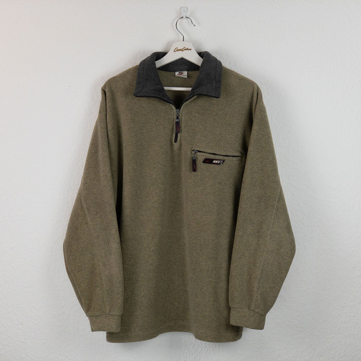 Fleece 1/4-Zip Sweater sand | M