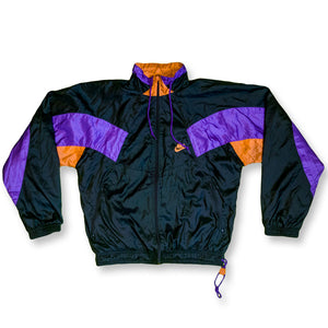 Nike Trainingsjacke Color Block S schwarz/violett/orange