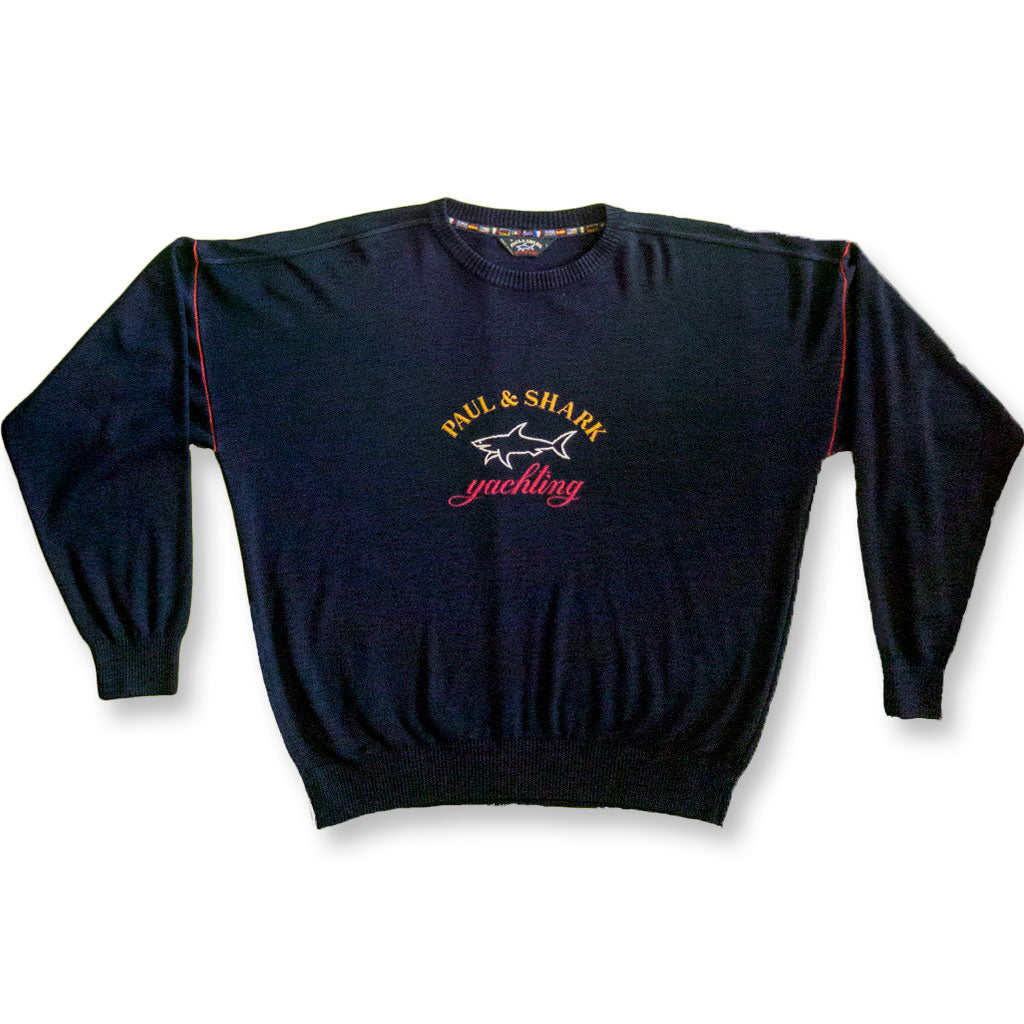 Paul & Shark Yachting Big Logo L navy