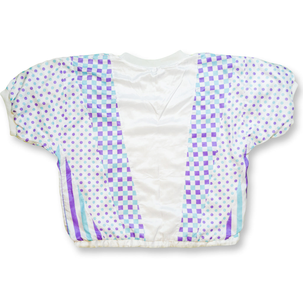 Girls | Crop Top weiß/lila/blau | S