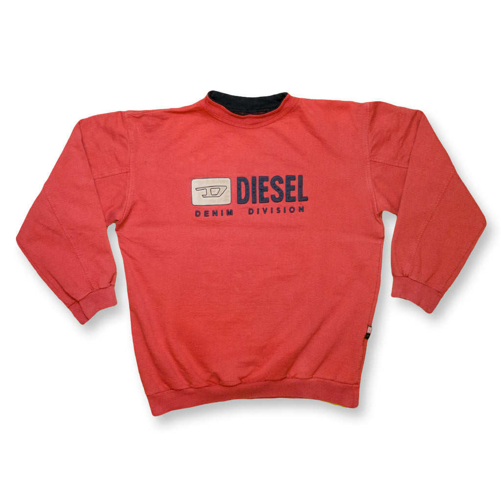Diesel Pullover Classic Logo rot | S