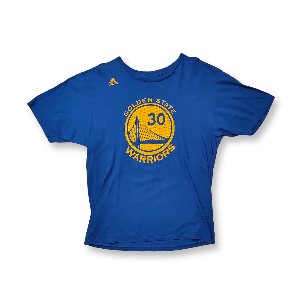 Adidas Steph Curry Shirt blau/gelb | L