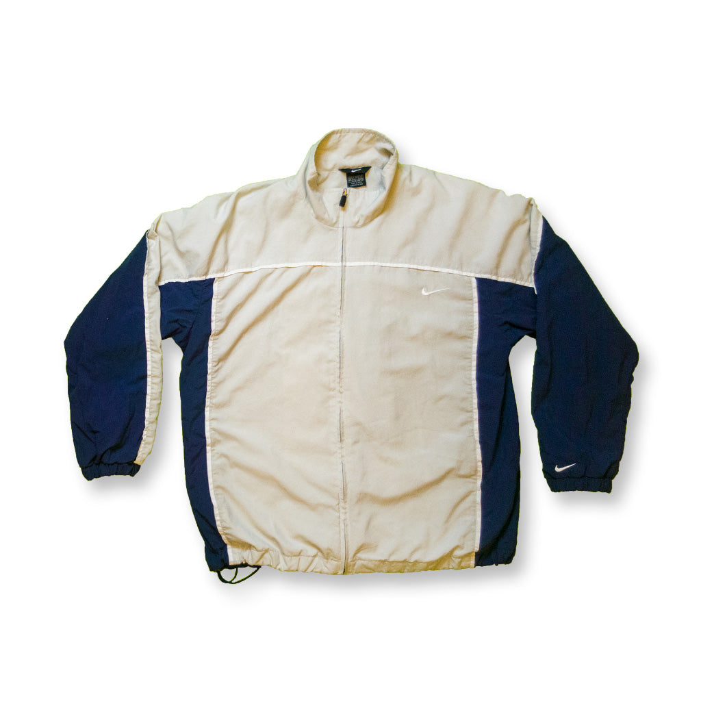 Nike Vintage Backswoosh Trainingsjacke beige/navy | M