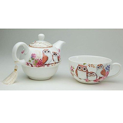 Tea For One Owls Porcelain