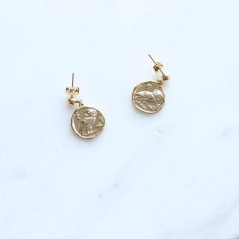 Handmade Gold Drop Earrings