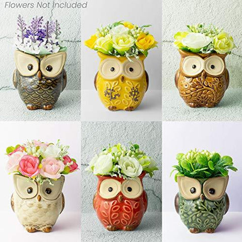 Ceramic Owls for Plants