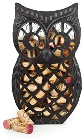 Owl Distressed Metal Cork Collector