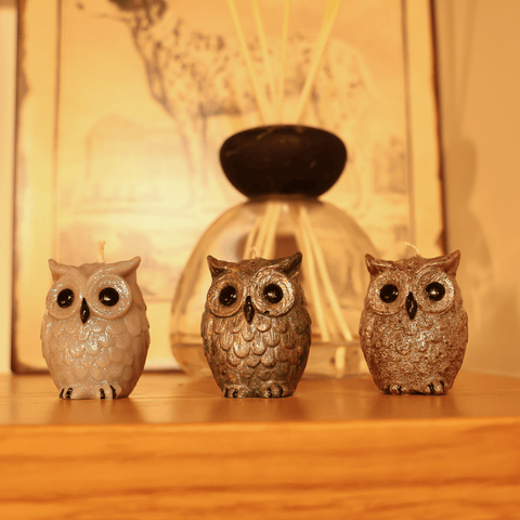 Luxury Owl Candles- Set Of Six
