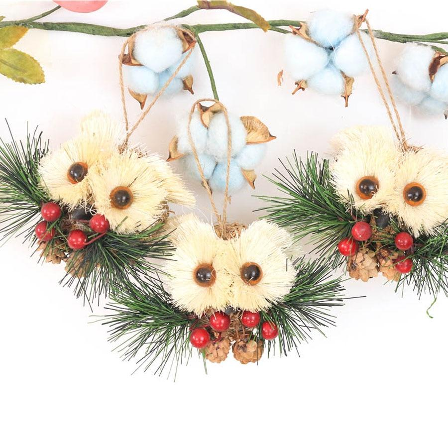 Rustic Owl Christmas Decoration