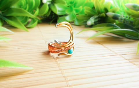 Handmade Moon Ring