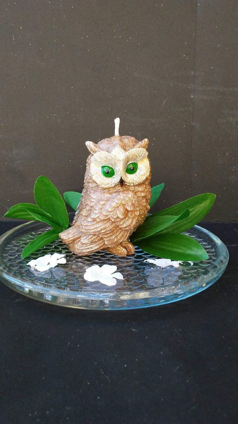 Handmade Luxury Owl Candle