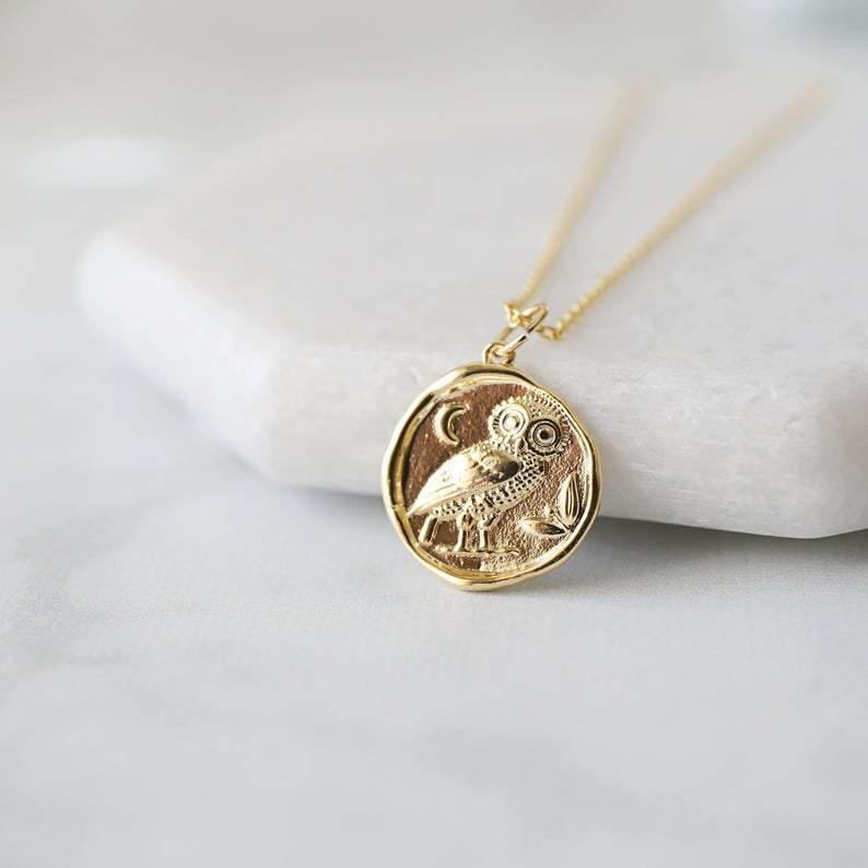 Handmade Gold Coin Necklace