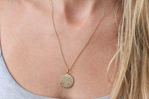 Handmade Zodiac Gold coin Necklace