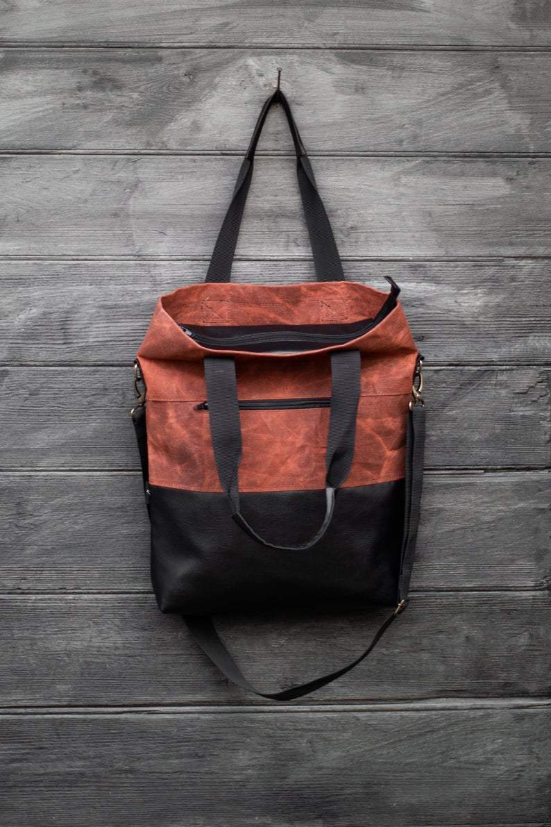 Handmade Tote bag Red fox