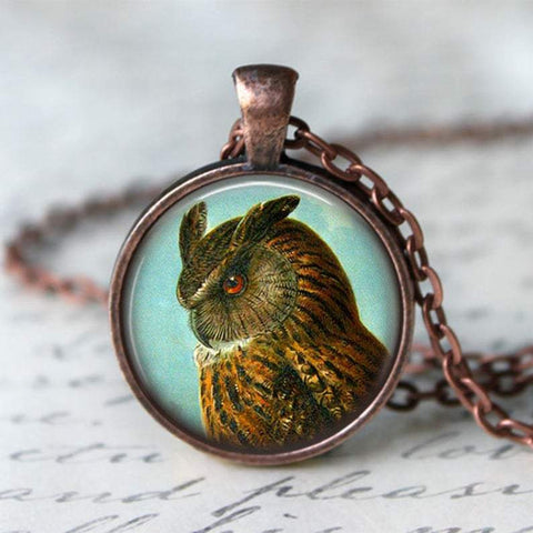 Handmade Turquoise Owl Necklace