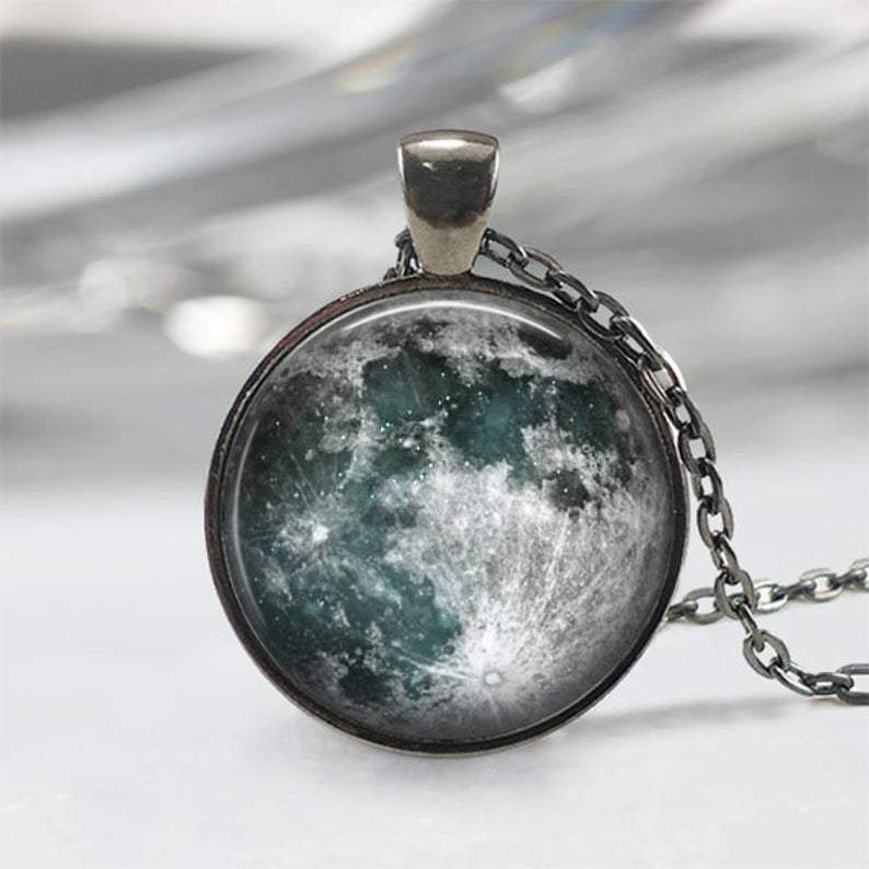 Handmade Blue Moon Necklace