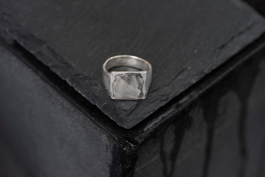 Silver Hammered Textured Ring