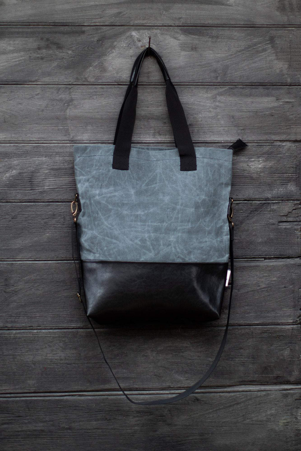 Bag - Handmade Tote Bag Grey Wolf