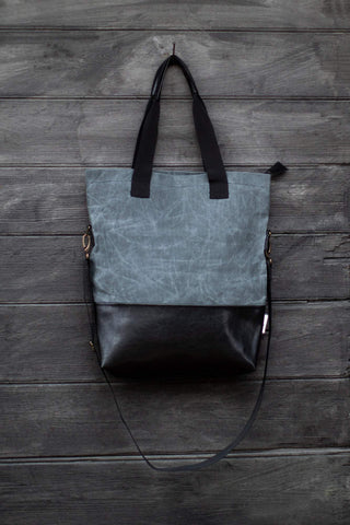 Handmade Tote bag Grey wolf