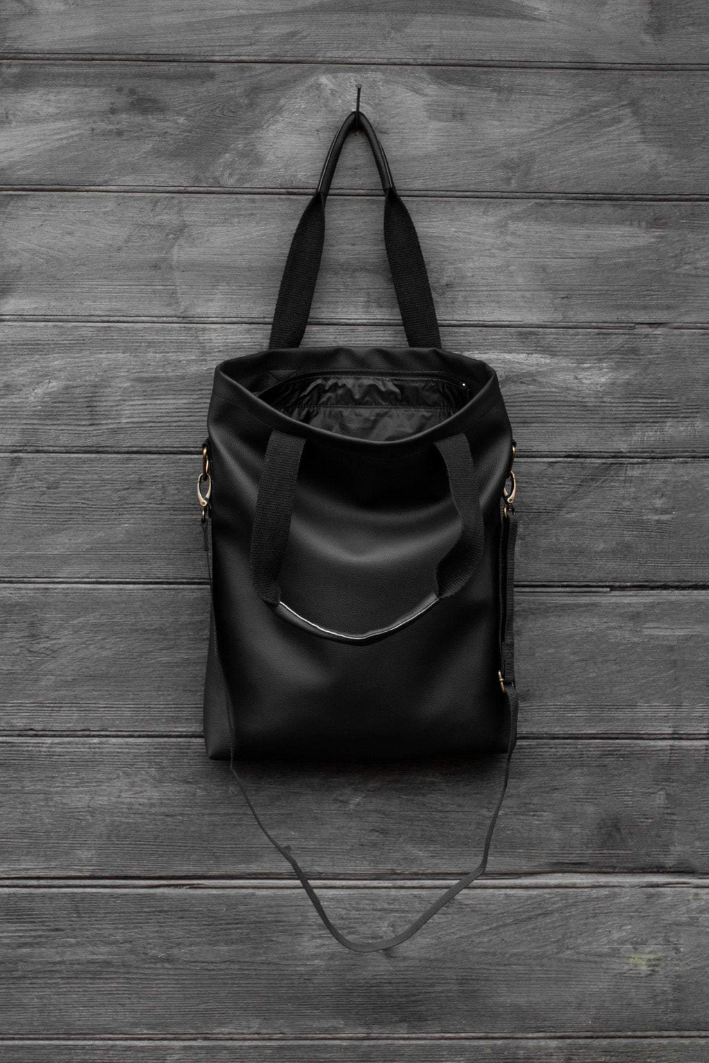 Handmade Black Tote Bag