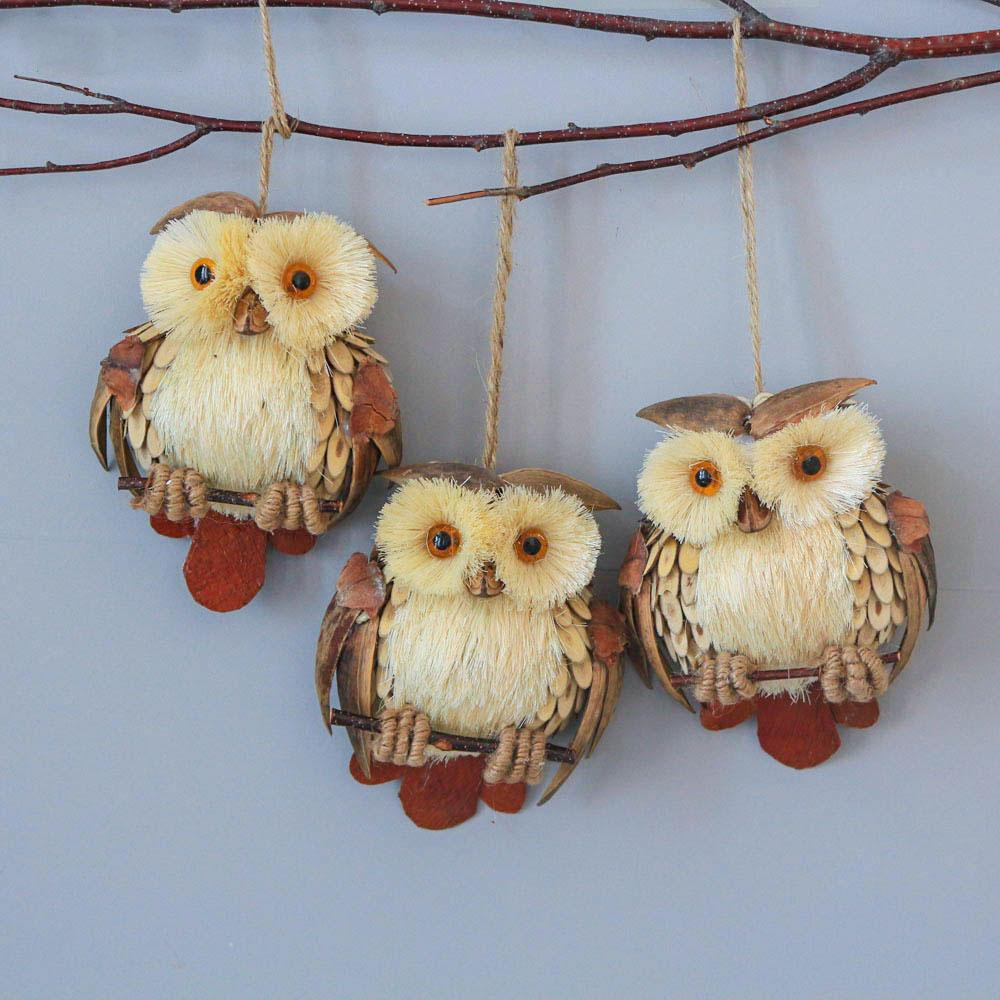 Owl Decoration Hanging For Christmas