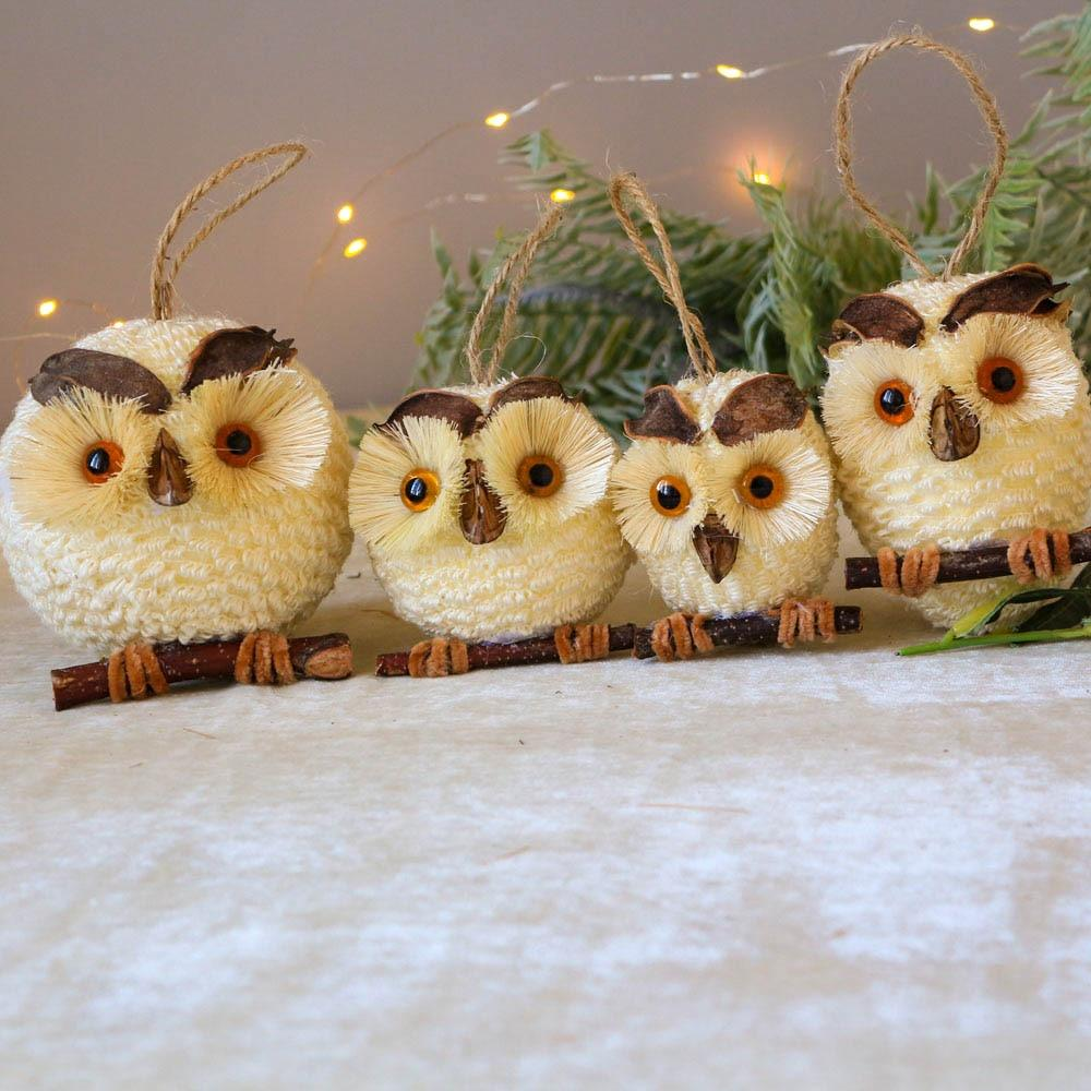 Owl Natural Handcraft For Christmas