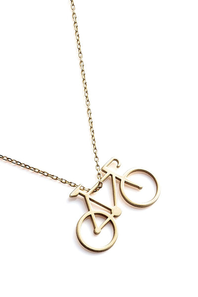 Bicycle Necklace - Gold - Necklace