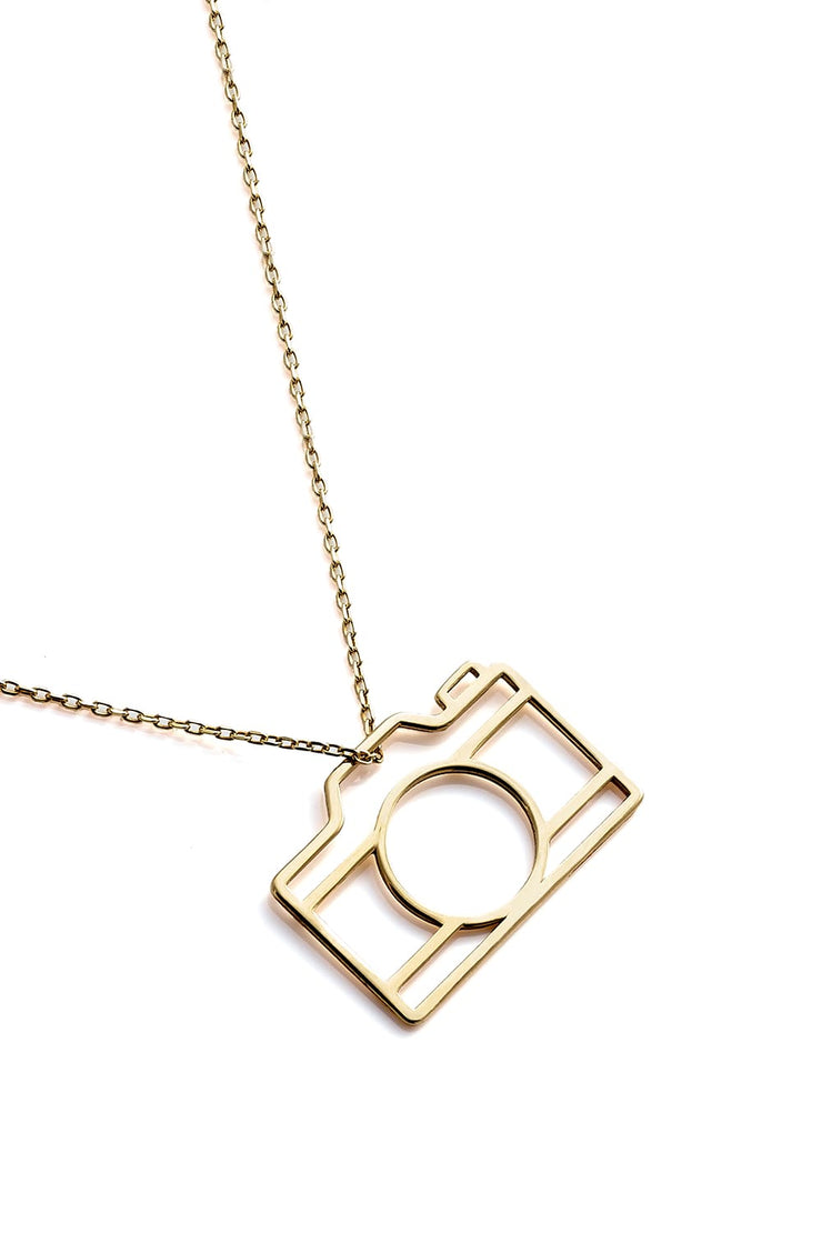Camera Necklace - Gold - Necklace