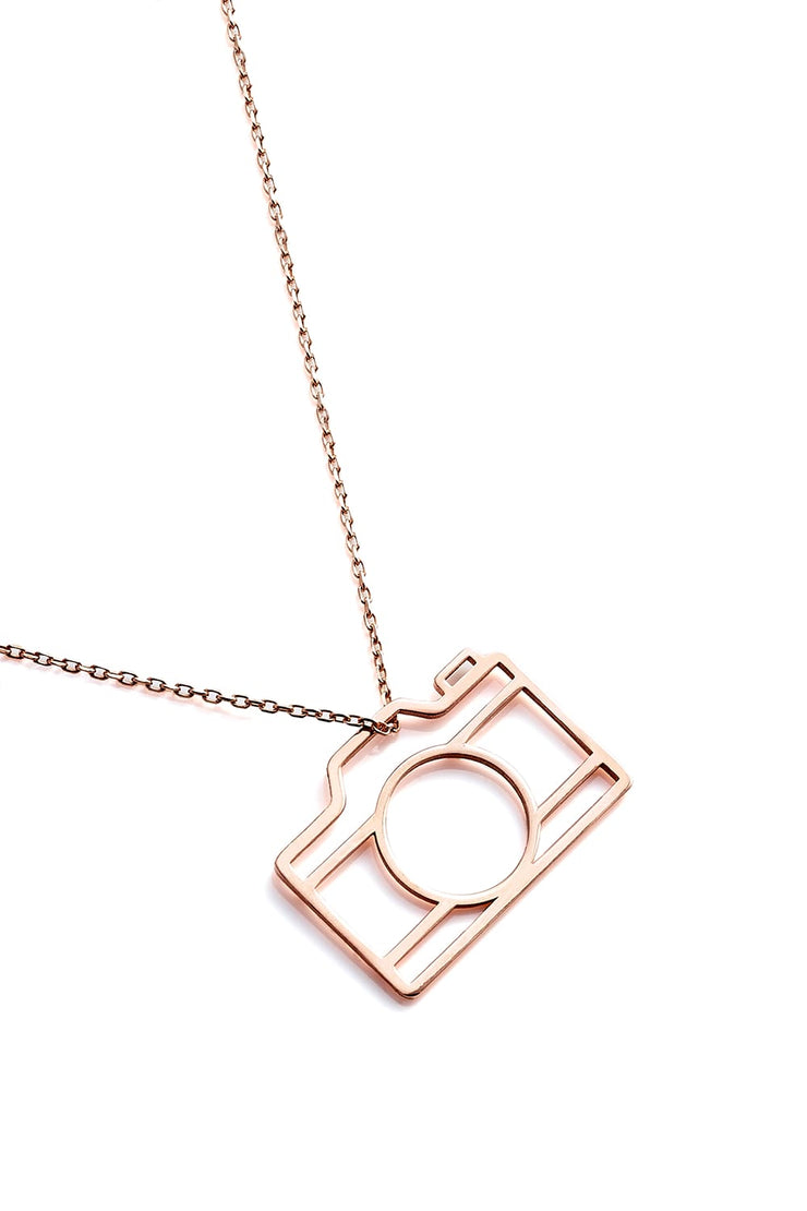 Camera Necklace - Rose Gold - Necklace