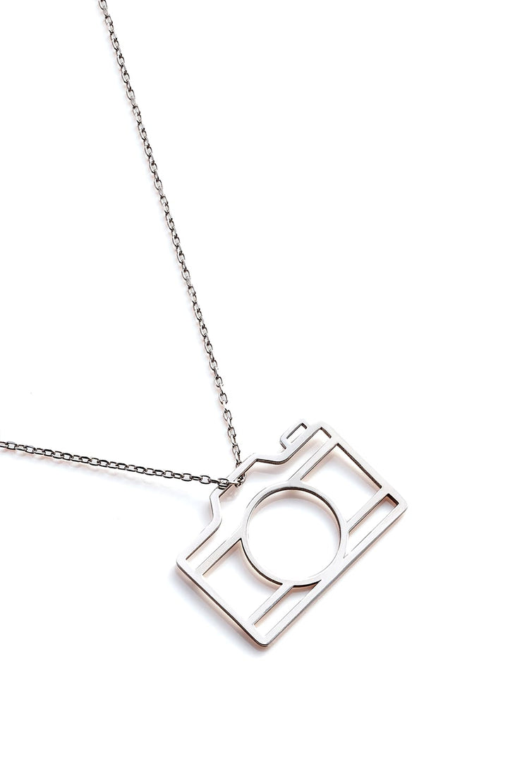 Camera Necklace - Silver - Necklace