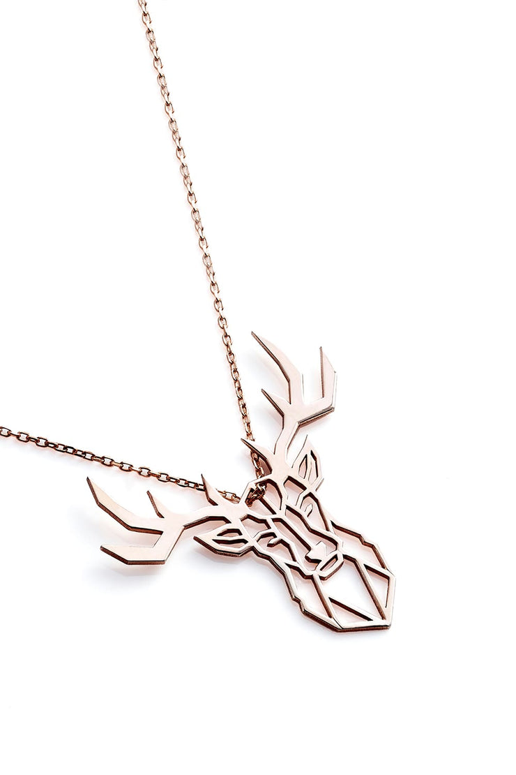 Deer Necklace - Rose Gold - Necklace