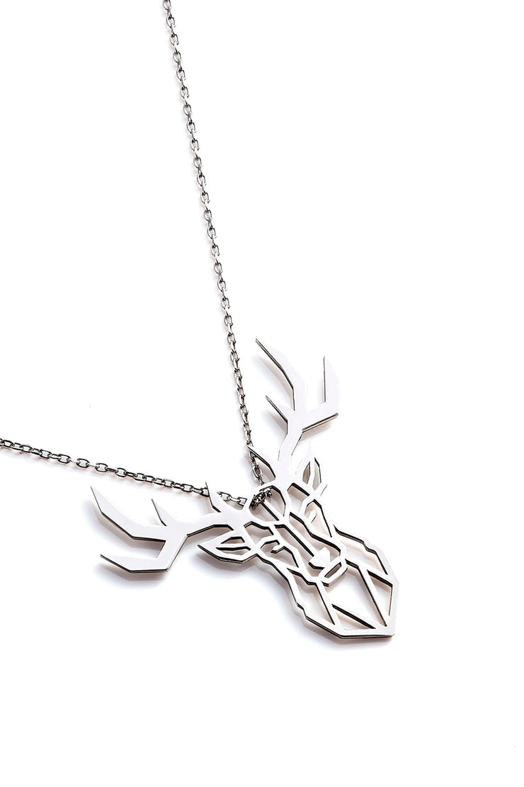 Deer Necklace - Silver - Necklace