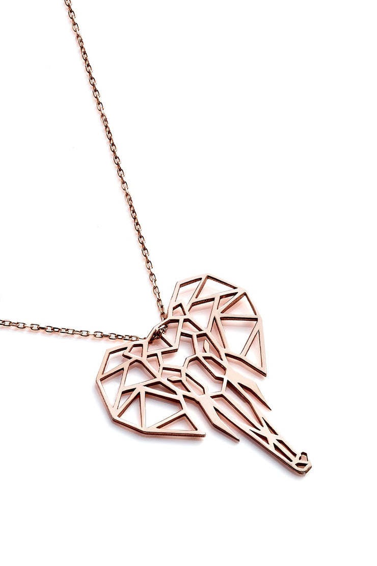 Elephant Necklace - Rose Gold - Necklace