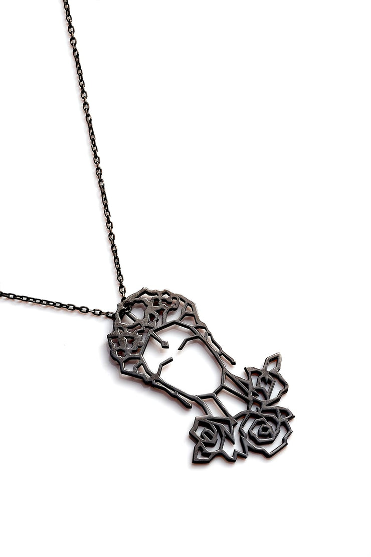 Frida Kahlo Necklace - Black - Necklace