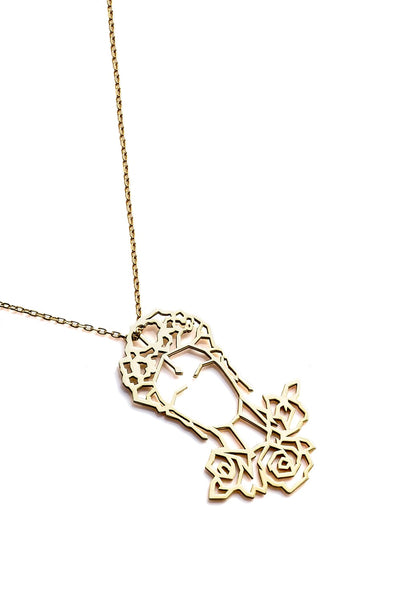 Frida Kahlo Necklace - Gold - Necklace