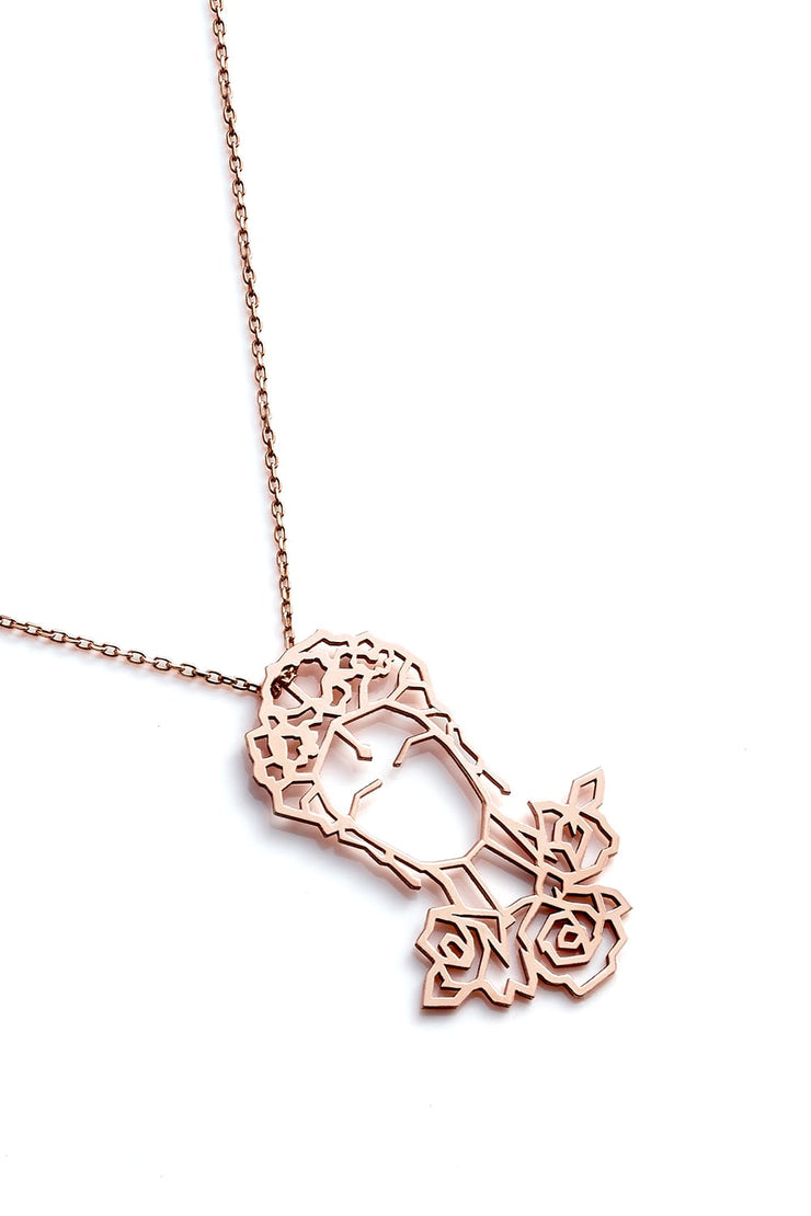 Frida Kahlo Necklace - Rose Gold - Necklace