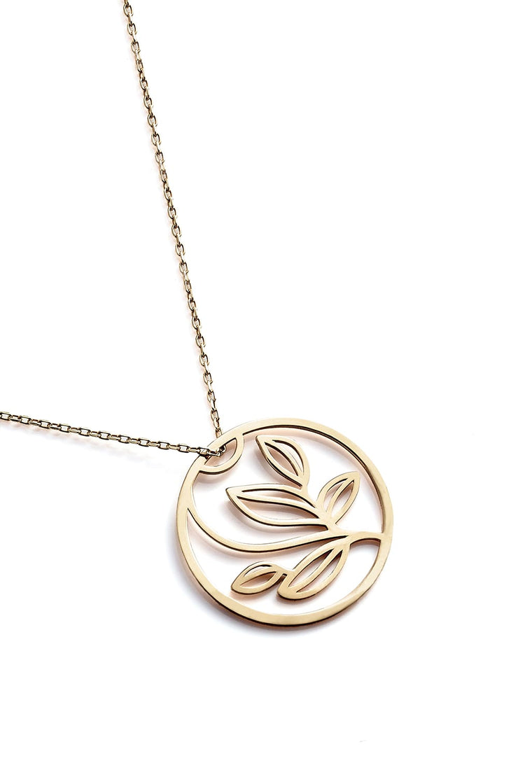 Leaves Necklace - Gold - Necklace