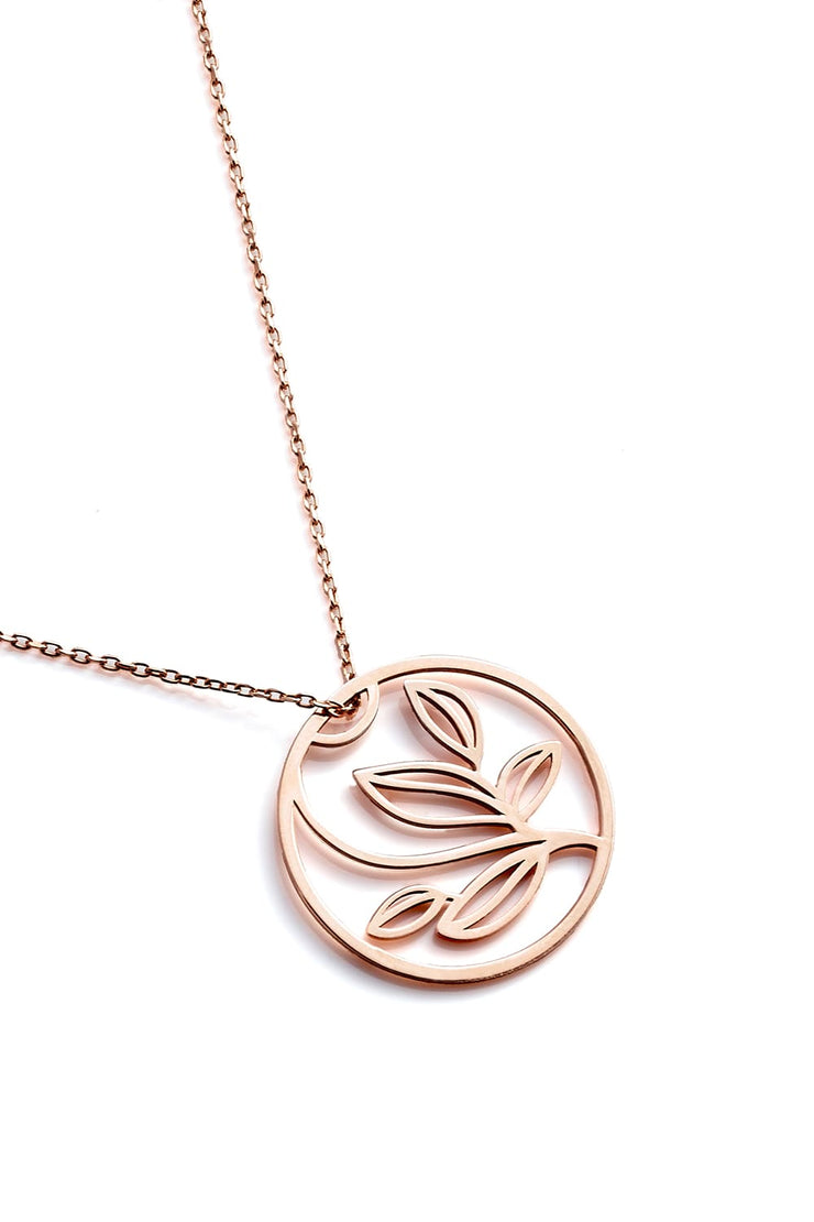 Leaves Necklace - Rose Gold - Necklace