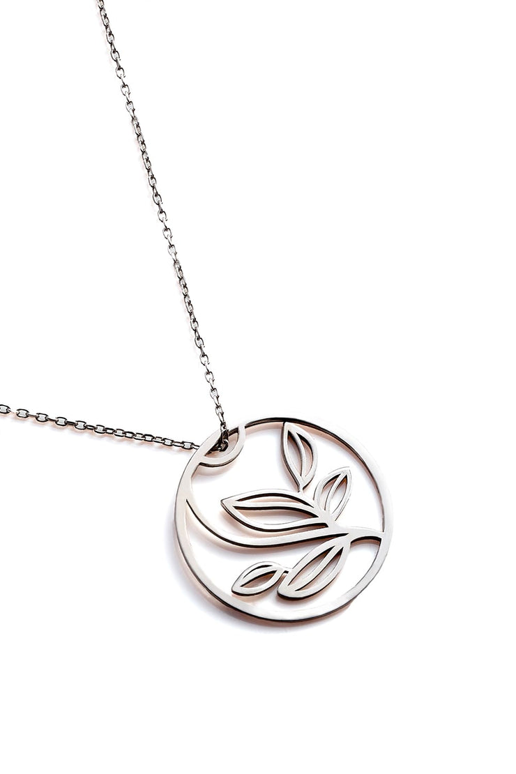 Leaves Necklace - Silver - Necklace