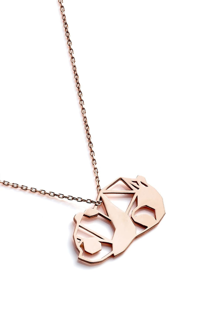 Panda Necklace - Rose Gold - Necklace