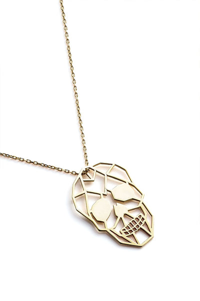 Skull Necklace - Gold - Necklace