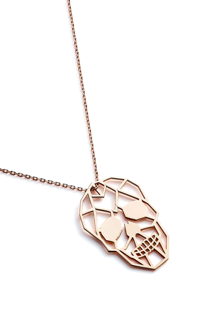 Skull Necklace - Rose Gold - Necklace