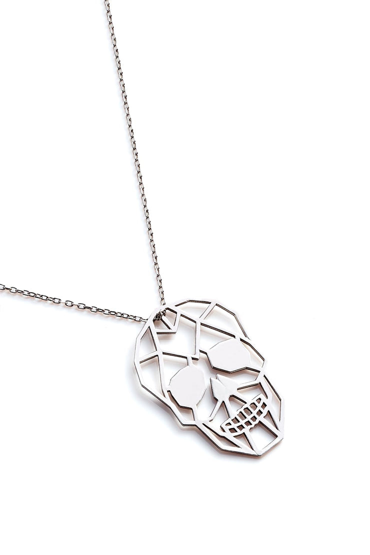 Skull Necklace - Silver - Necklace