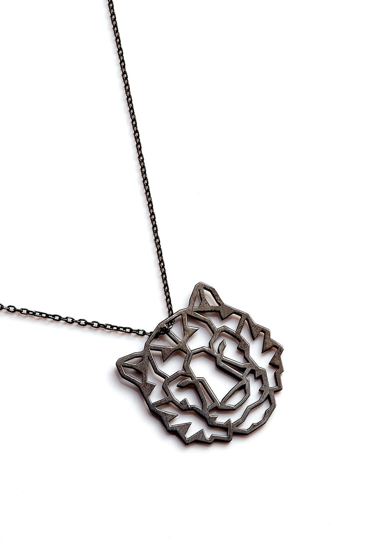 Tiger Necklace - Black - Necklace