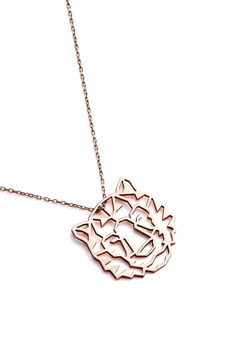 Tiger Necklace - Rose Gold - Necklace