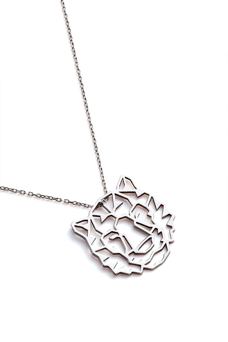 Tiger Necklace - Silver - Necklace
