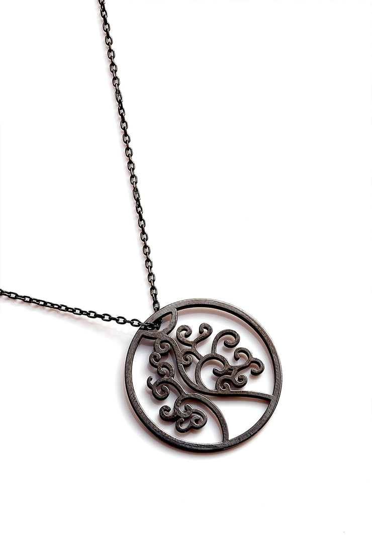 Tree Of Life Necklace - Black - Necklace