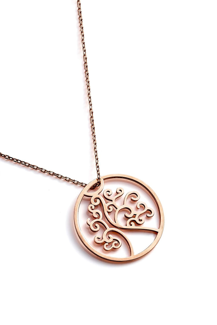 Tree Of Life Necklace - Rose Gold - Necklace