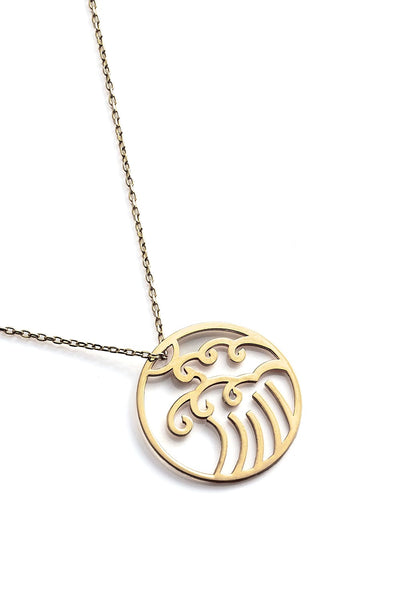 Wave Necklace - Gold - Necklace